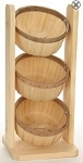 Shallow 1/2 Peck Baskets Counter Rack - Color Choice