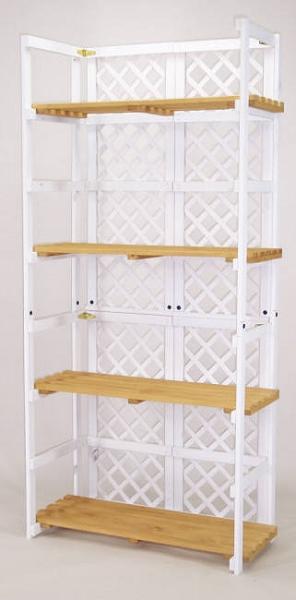 Lattice Folding Shelf Display Wood Stand Folding Display
