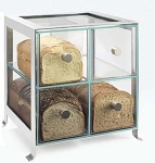 Four Compartment Bread Case - Silver Frame