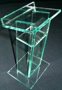 Standard Glass Color Podium - Green Tint