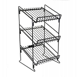 3 Shelf Wire Counter Display Rack - 23