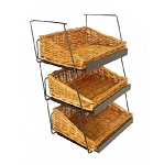 3 Tier Willow Stackable Basket Counter Display