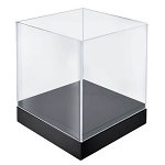 Acrylic Deluxe Clear Cube Showcase - 10in