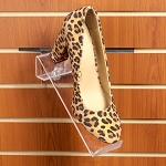 Acrylic Shoe Displays for Slatwall - 3ct