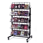 Black 10 Shelf Mobile Candy Rack