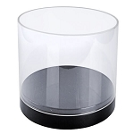 Clear Acrylic Deluxe Cylinder Showcase - 10in