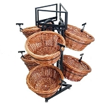 6 Round Willow Basket Display