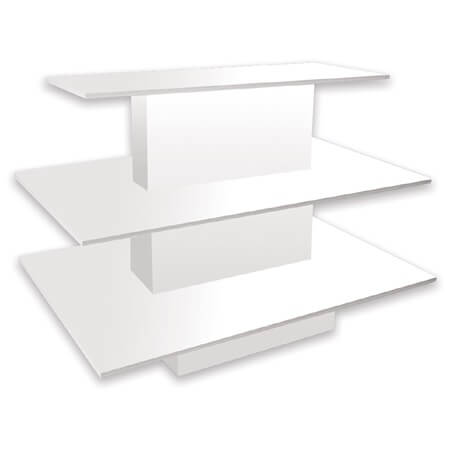 White 3 tiered display table candy display multi level for Html display table
