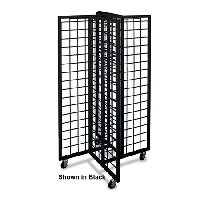 White 4-Way Gridwall Merchandiser