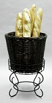 Medium Willow Basket & Pedestal Stand Set