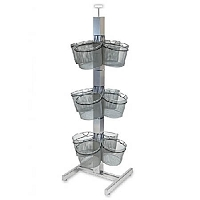Wire 12 Basket Slotted Tower Display