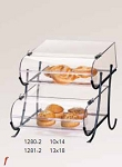Wire Display w/Round Nose Bins - 2 Tier