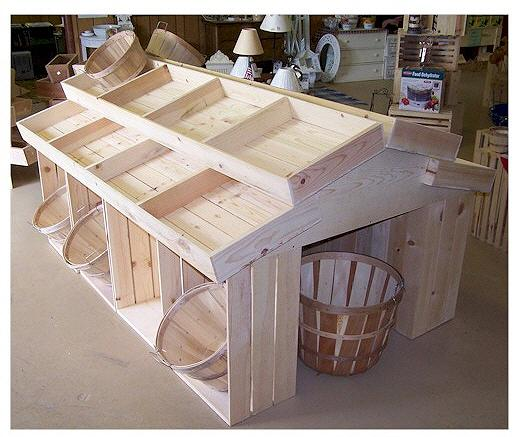 Wooden Country Barn Display Wood Store Crate