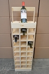 Wooden Wine Tower Display - 27 Bottle