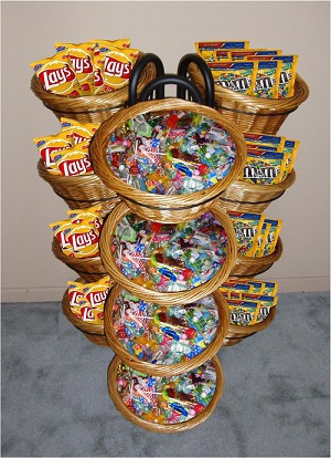 12 Basket Wicker Display