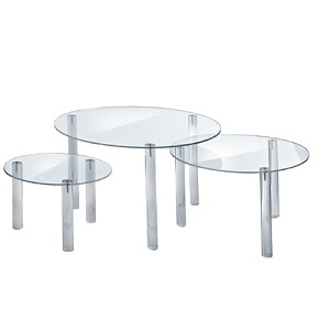 Round Acrylic Riser Display - 3pc