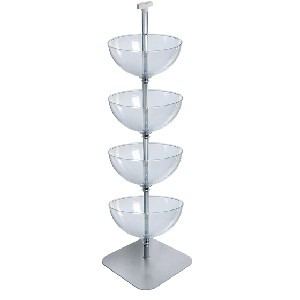 4 Tiered Bowl Floor Display - 16""