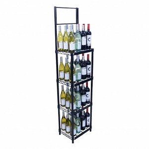 4-Shelf Floor Stand With Sign Frame