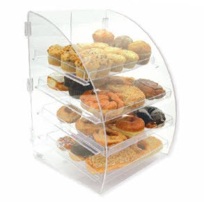 4 Tier Euro Curved Front Bakery Case
