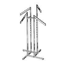 4-Way Garment Racks With 4 Slanted Arms