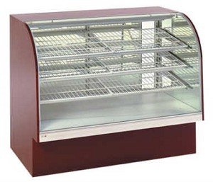 Non-Refrigerated Bakery Case - Curved Front  - 40""