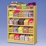 5 Shelf Wood Candy Display
