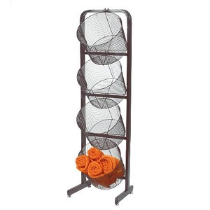 Large Black Wire Mesh Baskets Display