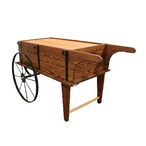Mini Flower Cart - Toasted Finish