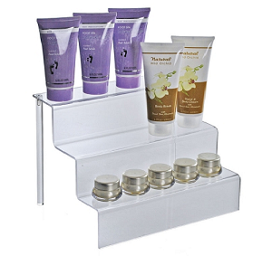 "Three-Tier Counter Step Display - 12""W - 4ct"