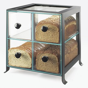 Four Compartment Bread Case - Black Frame