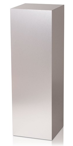 "18 x 18 Brushed Aluminum Laminate Pedestal - 12""H"