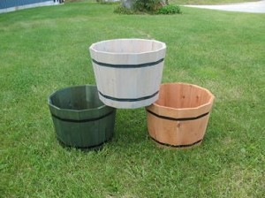 Cedar Whiskey Barrel Planters - 3ct