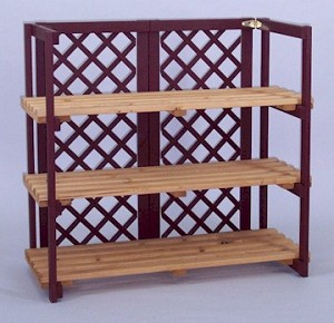 Countertop Folding Shelf Display with Lattice - Color Choice