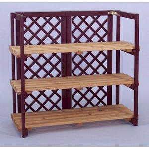 countertop folding shelf display with lattice color choice