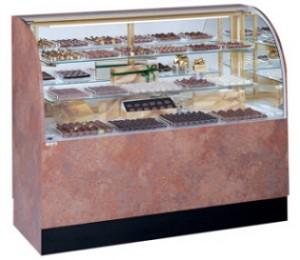 "Curved Candy Display Case - 48 1/4"" - 77 1/4"" -Non-Climate"