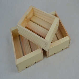 50 Flat Pine Crates - Natural / Unfinished