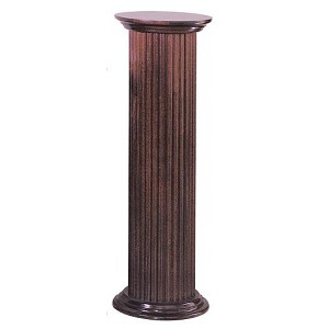 Round wooden fluted pedestal round stand fluted stand for Fluted pedestal base