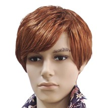 Male Brown Straight Wig
