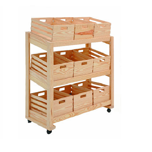Large Mobile Crate Display