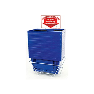 Shopping Baskets - Plastic Handles - 12ct