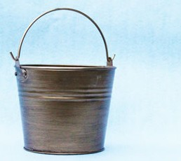 Small Metallic Painted Tin Pails - Color Option - 12ct