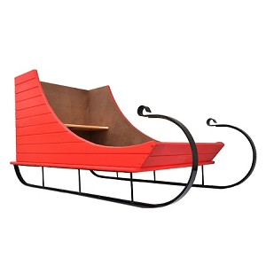 Sleigh Display - Painted Apple Red