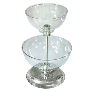 Two-Tier Bowl Counter Display