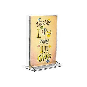 Vertical Top Load Acrylic Sign Holder - 10ct