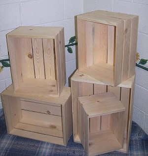 Wood Crate Set Nesting Crates Wood Displays Crate Set