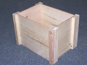 Wooden Open Top Boxes Knock Down Style - 6ct