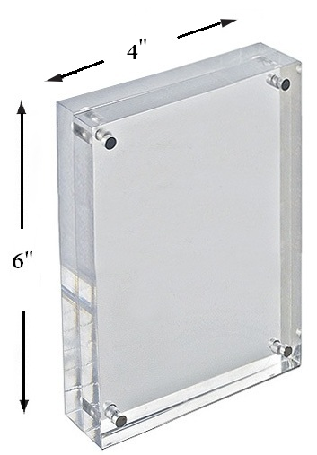 Acrylic Block Sign Holder | Acrylic Frame | Photo Frame