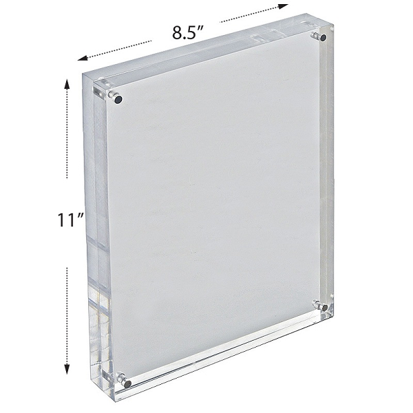 Acrylic Block Sign Holder Acrylic Block Frame Sign Holder