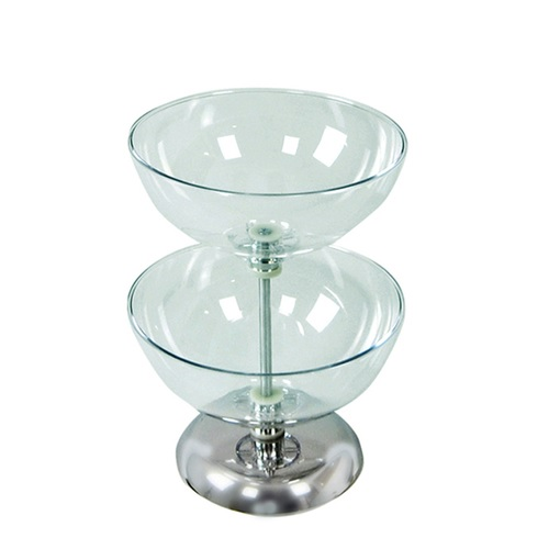 2 tiered countertop bowl display 12 impulse stand
