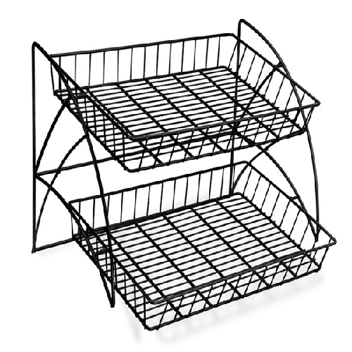 2 Tier Wire Counter Waterfall Rack